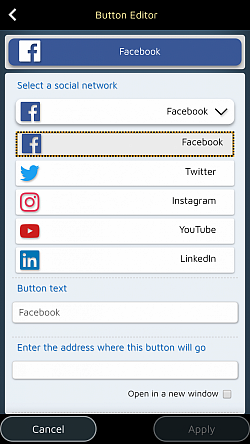 Add special buttons to incite your readers to visit your social page.