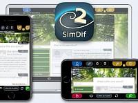 SimDif Website Builder on iOS